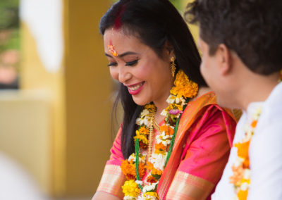 bride smile nepali wedding